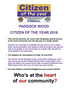 Citizen of the Year 2016 poster